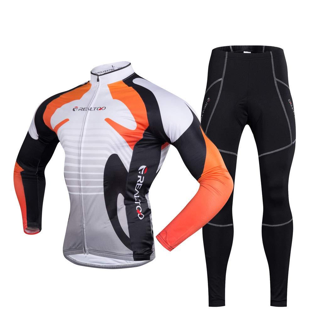 Chengzuoqing Fahrradanzug Herren-Radtrikots für Outdoor-Biking Atmungsaktive Fahrradbekleidung Sets (Größe   M)