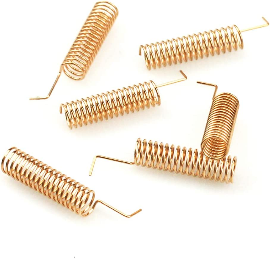 WayinTop 3 Set 433MHz RF Módulo Emisor y Receptor Inalámbricos + 433MHz Antena Helicoidal Espiral Espiral para Arduino Alarma Antirrobo
