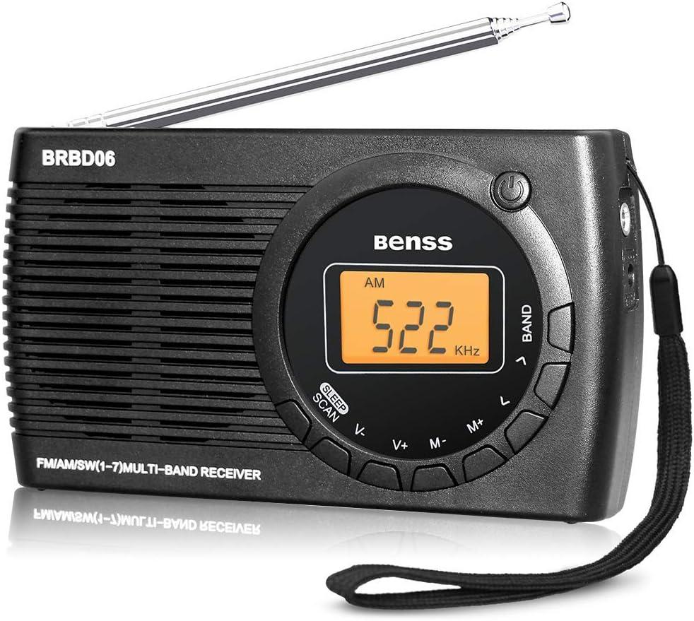 Radio Portatil Pequeña Digital Radio de Bolsillo FM Am SW DSP ...
