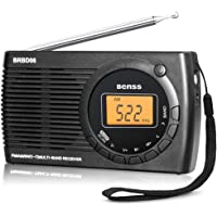 Radio Portable Digitale AM FM SW Radio de Poche Mini Personnel Transistor Radio avec Haut-Parleur Affichage LED Réveil, Excellente Réception