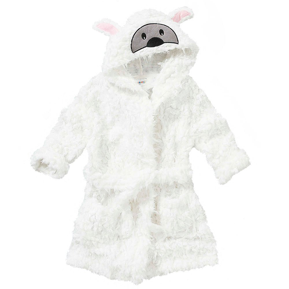 Animal Crazy Childs Boys Girls Sheep Bath Robe Dressing Gown Supersoft Fleece