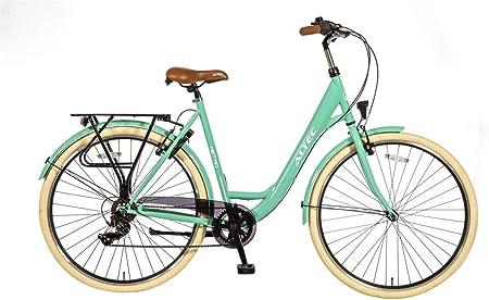 Altec Bicicleta Mujer Metro 28 Pulgadas Frenos al Manillar Caja de Cambios Shimano de 7 Velocidades Portabultos 85% Montado Verde Ocean: Amazon.es: Deportes y aire libre
