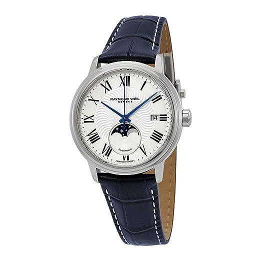 Raymond Weil Maestro 2239-STC-00659 - Reloj automático para Hombre, Esfera Plateada: Amazon.es: Relojes