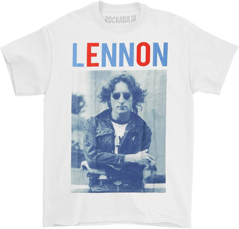 John Lennon Men's John Lennon Red White & Lennon T-Shirt White