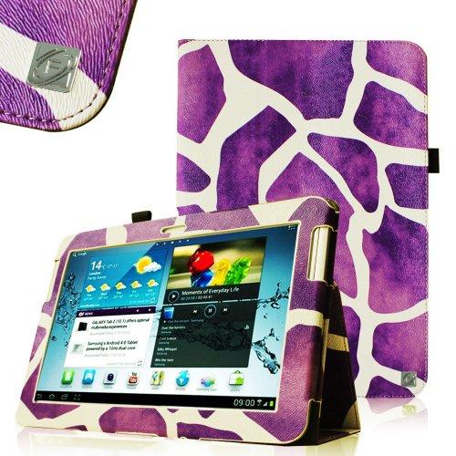 Fintie Slim Fit Folio Case Cover for Samsung Galaxy Tab 2 10.1 inch Tablet – Giraffe Purple, Best Gadgets