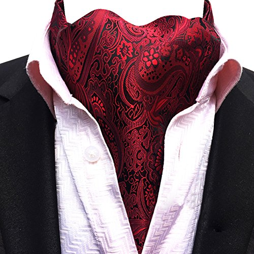 Red 18 Paisley Jacquard Men's Lja Scarf YCHENG Jacquard Necktie Ascot Floral Patterned pRxqwZPq