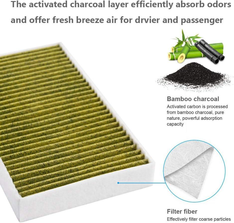 Filtro de aire interior para coche, polen, purificador de filtro de aire, repuesto Fresh Breeze para modelo 3: Amazon.es: Coche y moto