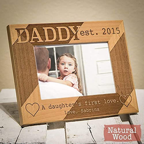 amazon com personalized dad picture frame dad gift from daughter