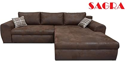Incredible New Brown Leather Corner Sofa Bed Istanbul Modern Design 2 Ncnpc Chair Design For Home Ncnpcorg