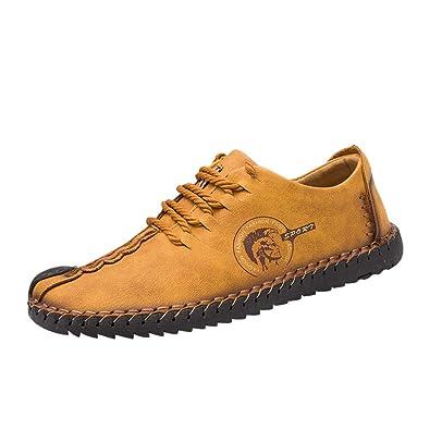 Zapato Casual para Hombre con Cordones Mocasines para Hombres Mocasines Slip On Shoes Zapatos para Botes Oxford Oxford Sneaker Male: Amazon.es: Zapatos y ...