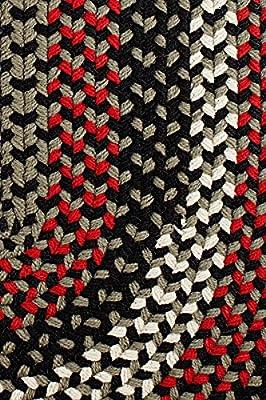 Indoor/Outdoor Rug, Reversible Braided Textured Design, Deck/Patio Carpet