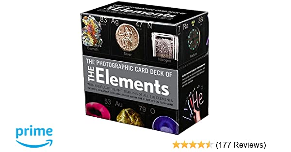 Photographic Card Deck Of The Elements With Big Beautiful