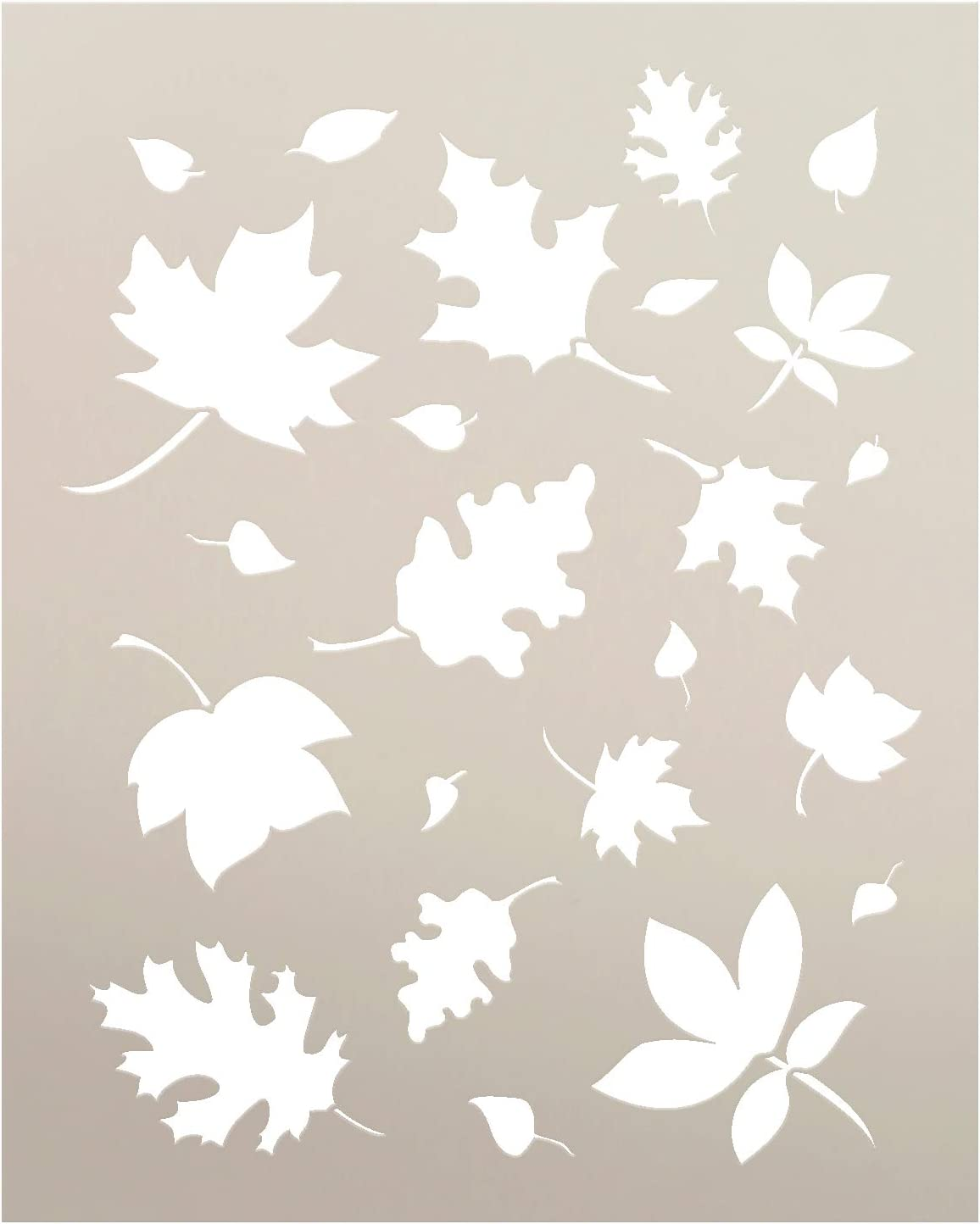 fall template leaf stencil  Harvest Stencil - Fall Leaves Stencil | Autumn Art Reusable Mylar Template  | Painting, Chalk, Mixed Media | Use for Crafting, DIY Home Decor | Select  ...