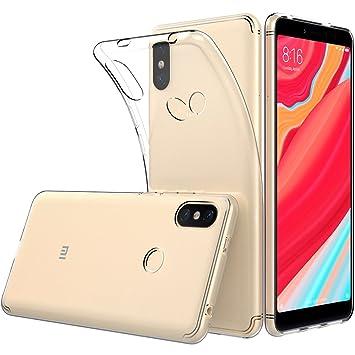 Peakally Funda Xiaomi Redmi S2, Transparente Silicona Funda para Xiaomi Redmi S2 Carcasa Flexible Claro Ligero TPU Fundas [Antideslizante] [Resistente ...