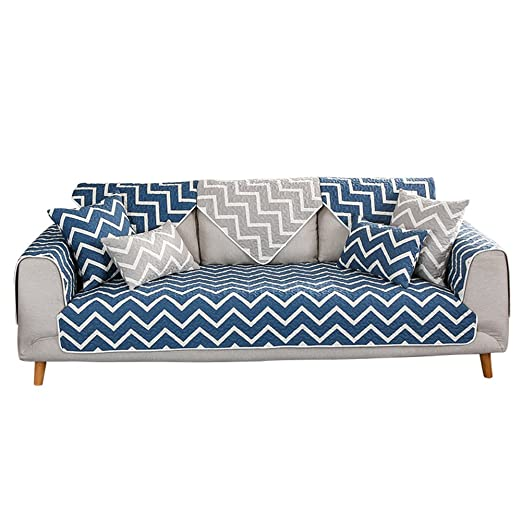 Amazon.com: Cotton Sofa slipcover,Anti-Slip Quilted Sofa ...