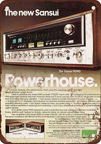 7 x 10 METAL SIGN - 1976 Sansui 9090 Receivers - Vintage Look Reproduction (Sansui Vintage Receiver)