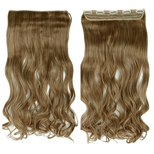 G Thick Straight Curly Wavy One Piece Clip in Hair Extensions Any Color 5 Clips Natural Hairpiece(24