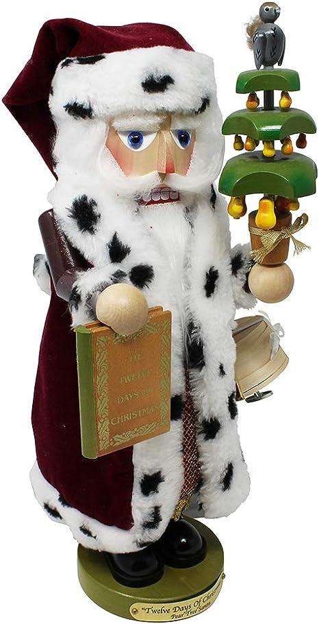 Kurt Adler 19-Inch Steinbach 12 Days of Christmas Musical Nutcracker