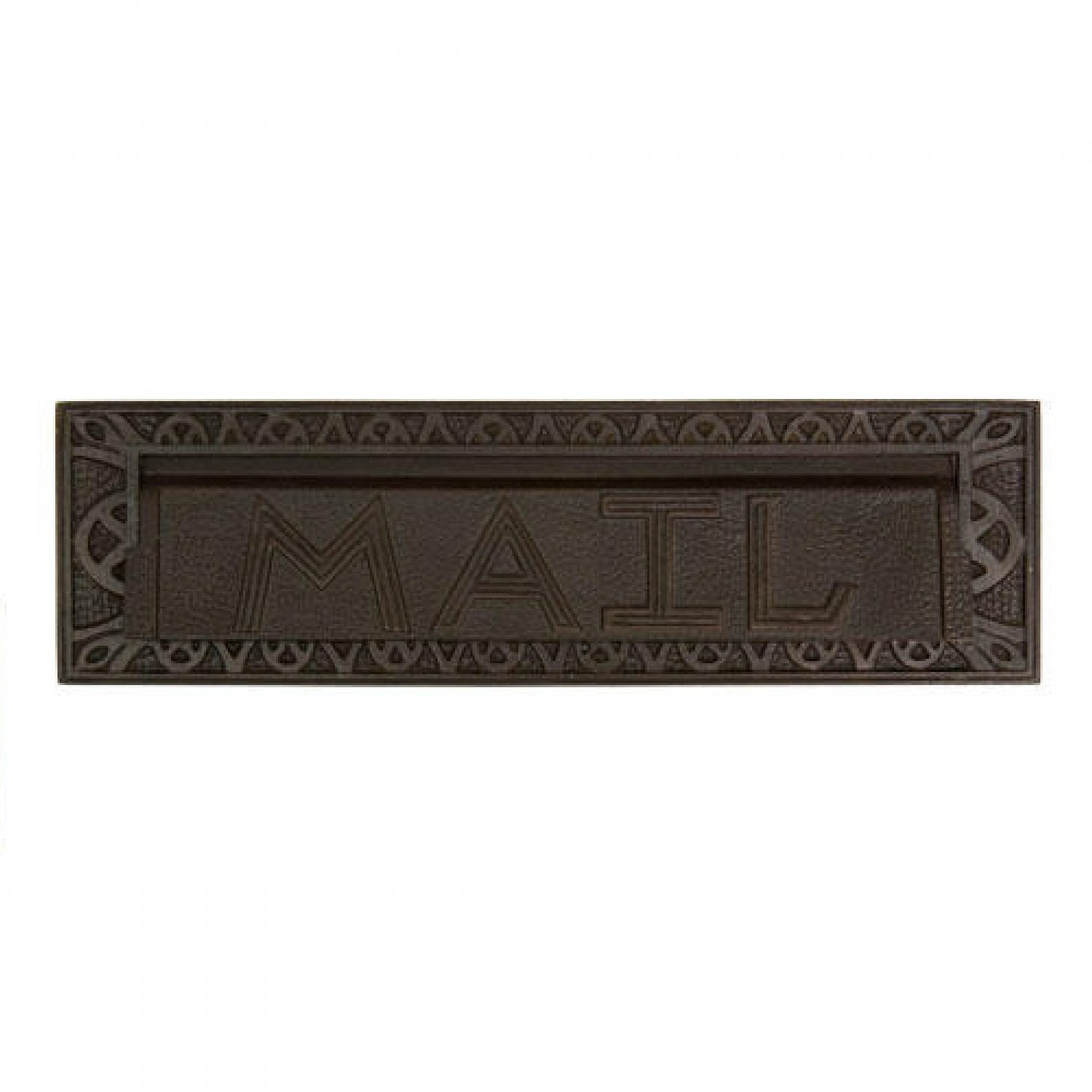 Naiture 13'' Heavy Duty ''mail'' Letter Slot in Bronze Patina Finish by SH