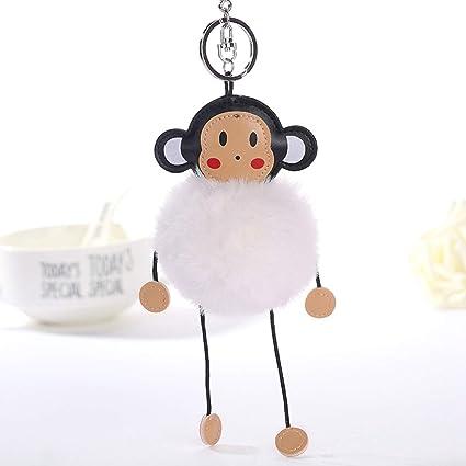 Amazon.com  car Key Chain Men Fluffy Artificial Bunny Fur Ball ... 6371105089