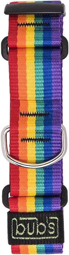 bub's Collar Martingale - Collar para Perro Grande/Mediano, antialérgico y Suave.Diseñado para Todo Tipo de Razas de Perro y Especialmente para Galgos(Comprobar tamaño: Cuello 26 a 45) Color Rainbow