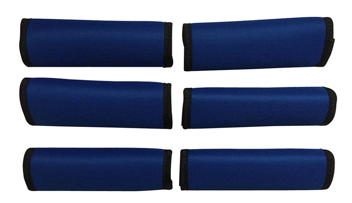 LUGGAGE SPOTTER® SUPER GRABBER - 6 ROYAL BLUE Soft Comfort Neoprene Handle Wrap Grip Luggage Identifier for Travel Bags Suitcases Heavy Grocery Bags Wraps Around Just About Anything! by Luggage Spotter