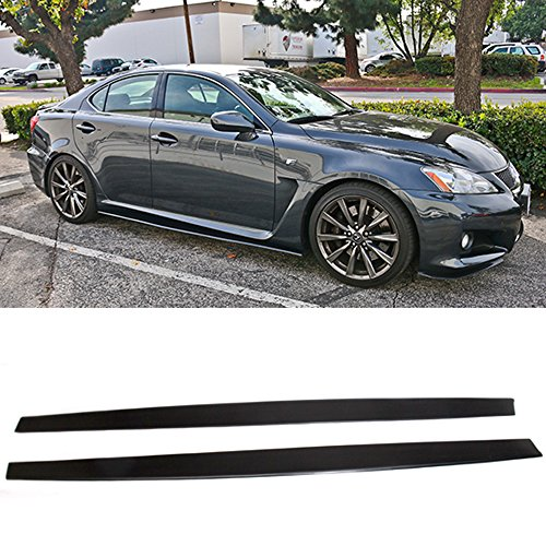 Side Skirts Fits Universal Vehicles 80 x 5 Inch | Universal Style Black PU Sideskirt Rocker Moulding Air Dam Chin Diffuser Bumper Lip Splitter by IKON MOTORSPORTS