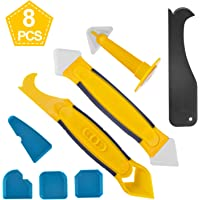 Silicone Remover & Silicone Jointing Tool, Multifunctional 8 in 1 Professional Silicone Tool Scraper Set for Kitchen Bathroom Floor