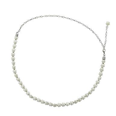 40f1e255bd85 FASHIONGEN - Ceinture chaîne coquillage plastique pour femme ROSETTA -  Argenté, Taille unique