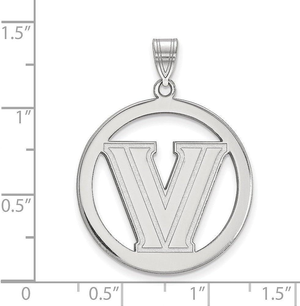 Collegiate Villanova University Sterling Silver LogoArt Villanova University L Pendant in Circle