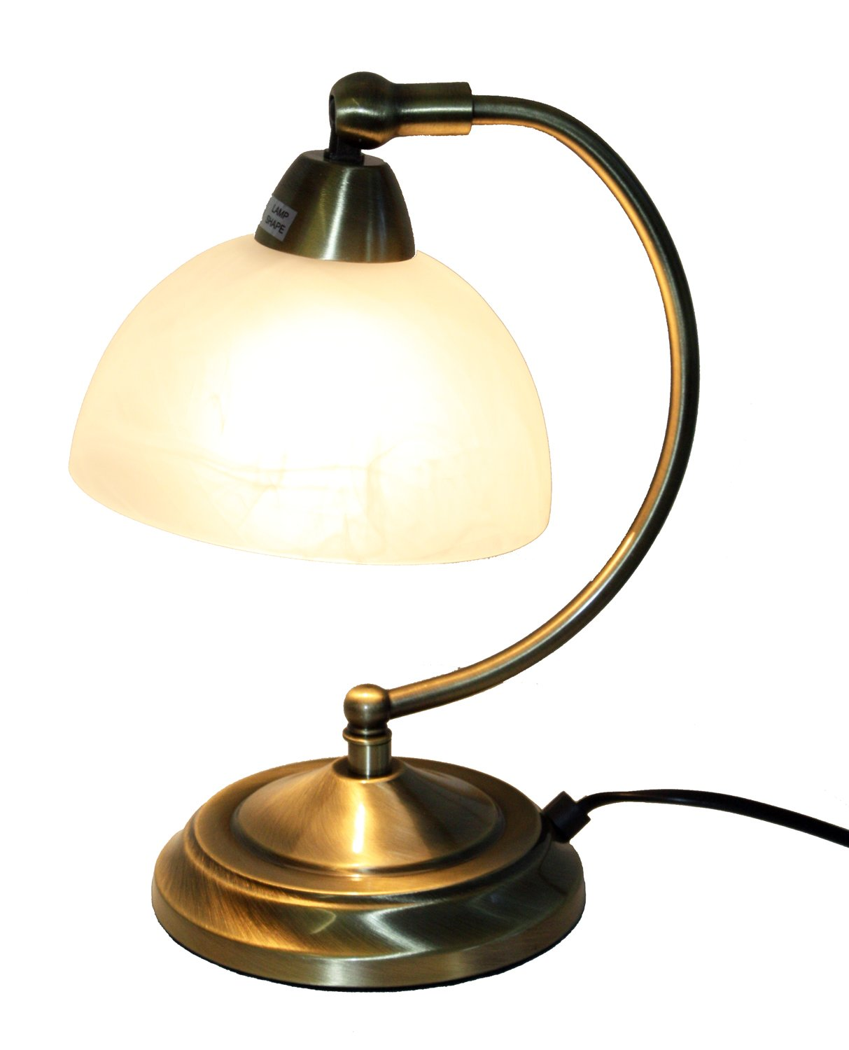 Antique brass adjustable metal touch table lamp with white glass antique brass adjustable metal touch table lamp with white glass shade 28 cms amazon lighting aloadofball Gallery
