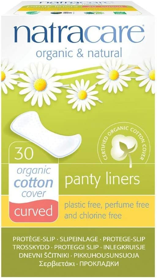 Natracare 3060 Natural Curved Panty Liners 30 Count (5 Pack)
