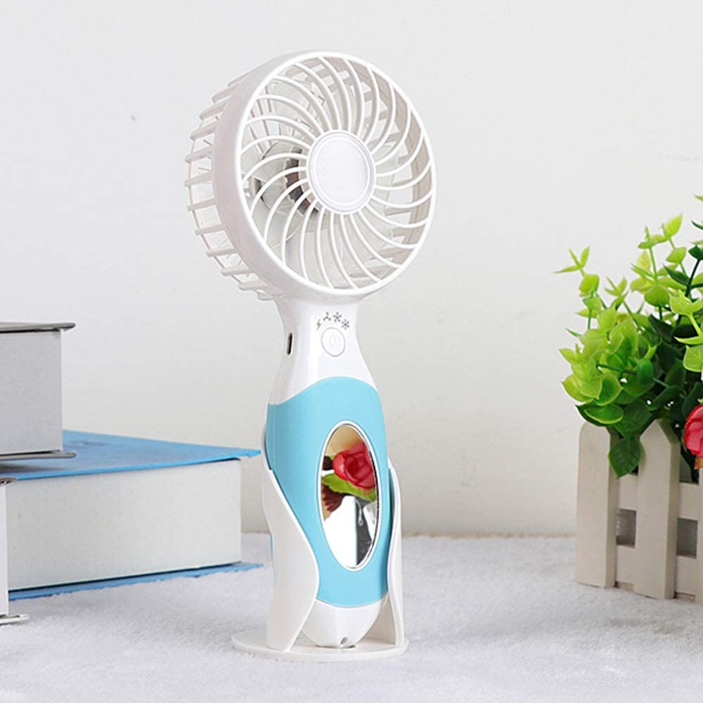 Handheld Small Electric Fan Rechargeable USB Small Mini Student Dormitory Bed with Portable Portable Desktop Handheld Fan BLWX Color : F