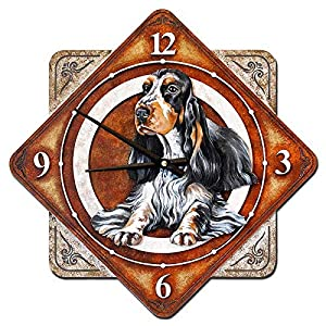 """Wall Clock""""English Cocker Spaniel"""", made of wood (MDF), hand-painted with acrylic paint 2"""