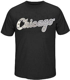 4870d7bab Majestic Chicago White Sox MLB Always Practice Mens Synthetic Crewneck  Shirt Black Big Sizes