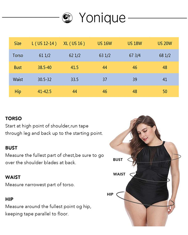 Yonique Plus Size Tankini Swimsuits Top for Women Swimwear Front Tie Bathing Suits Top Flowy Swimdress Swim Top