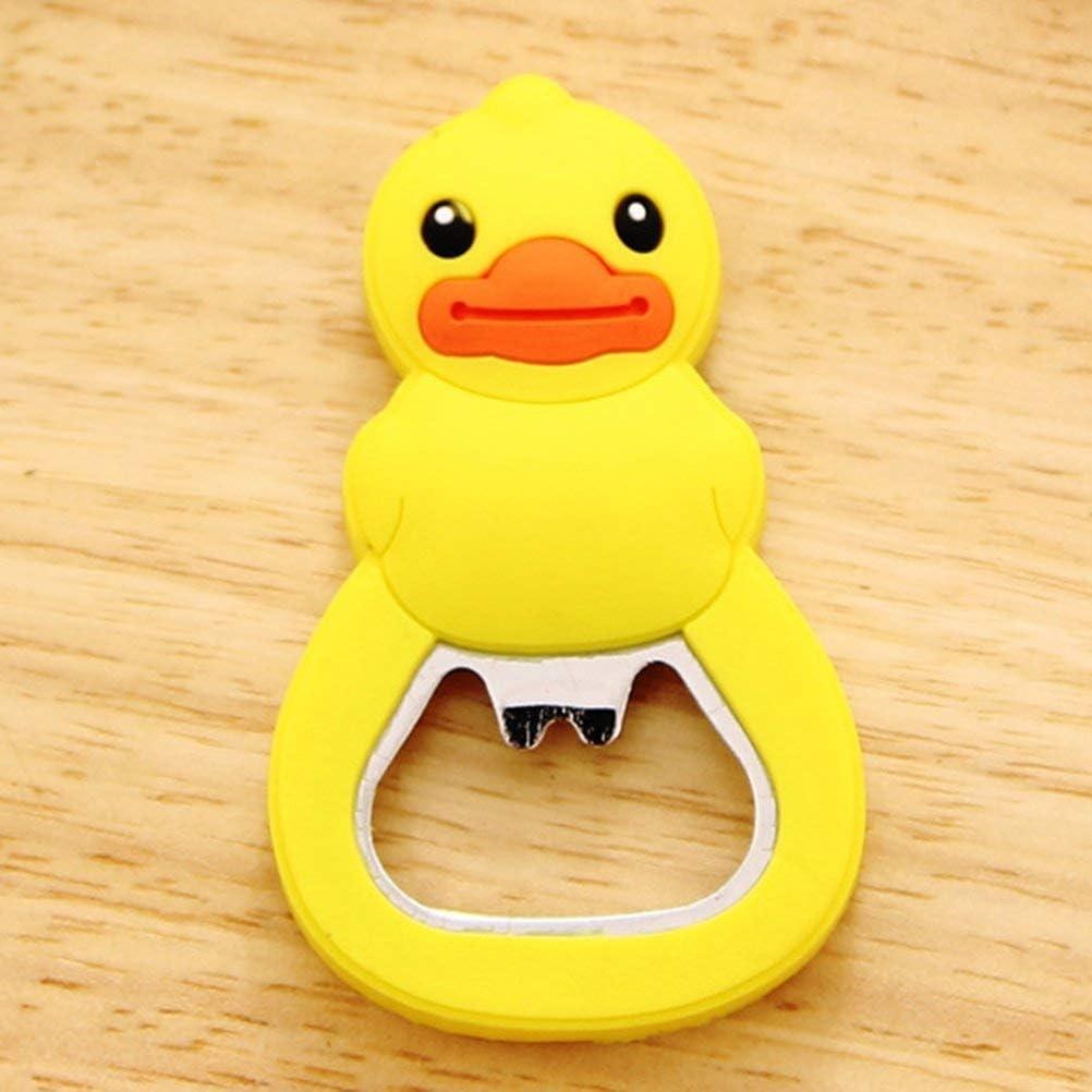 Cute Red Baby Rubber Duck Bottle Opener Fridge Magnet