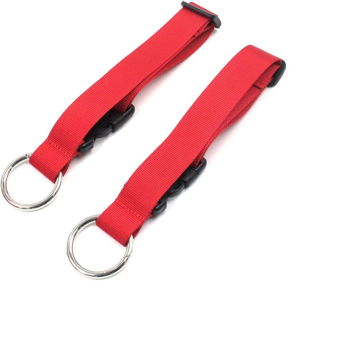 Suitcase Strap Karcy Add Bag Luggage Strap 7.5 Inch Add A Bag Luggage Strap Jacket Gripper Imitation Nylon Red Set of 2