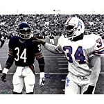 9f4702df1 Earl Campbell (Single) Autographed Walking With Walter Payton Black and  White.