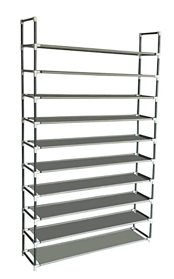 Sodynee 50 Pairs 10 Tier Shoe Rack Shoe Organizer Shoe Storage Shoe Shelves  Cabinet Stackable