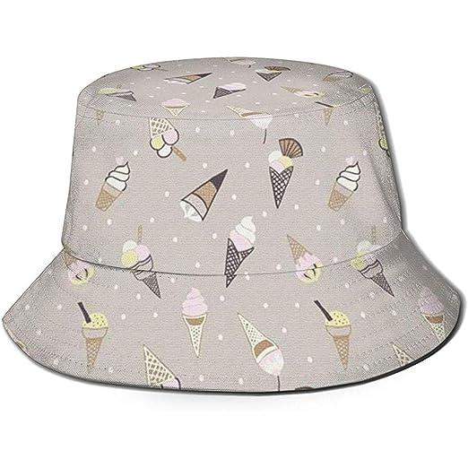 Helado Unisex Bucket Hat Reversible Fisherman Hat Packable Casual ...