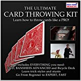 ALL THE TOOLS YOU NEED TO BECOME A MASTER OF CARD THROWING ALL IN ONE KIT - The Ultimate Card Throwing Kit is the perfect tool for you to discover and improve your card throwing skills or your money back! Includes a teach DVD and two teaching card de...
