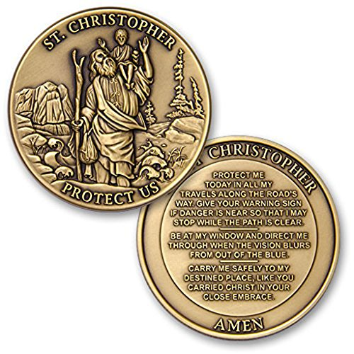 St Christopher Protect Us Challenge Coin