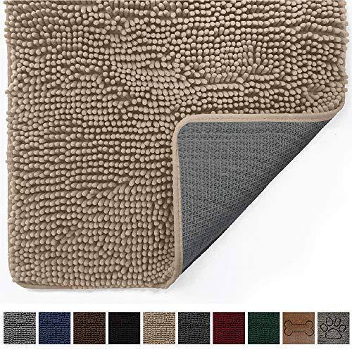 Gorilla Grip Original Indoor Durable Chenille Doormat, (48x30) Absorbent, Machine Washable Inside Mats, Low-Profile Rug Doormats for Entry, Mud Room Mat, Back Door, High Traffic Areas (Beige)