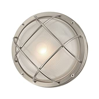 Marine bulkhead round outdoor wall ceiling light 10 inches marine bulkhead round outdoor wall ceiling light 10 inches wide mozeypictures Choice Image