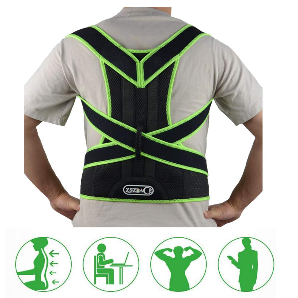 ZSZBACE Back Brace Posture Corrector to Improve Bad Posture, Thoracic Kyphosis, Shoulder Alignment, Upper Back Pain Relief for Men and Women (M) by ZSZBACE