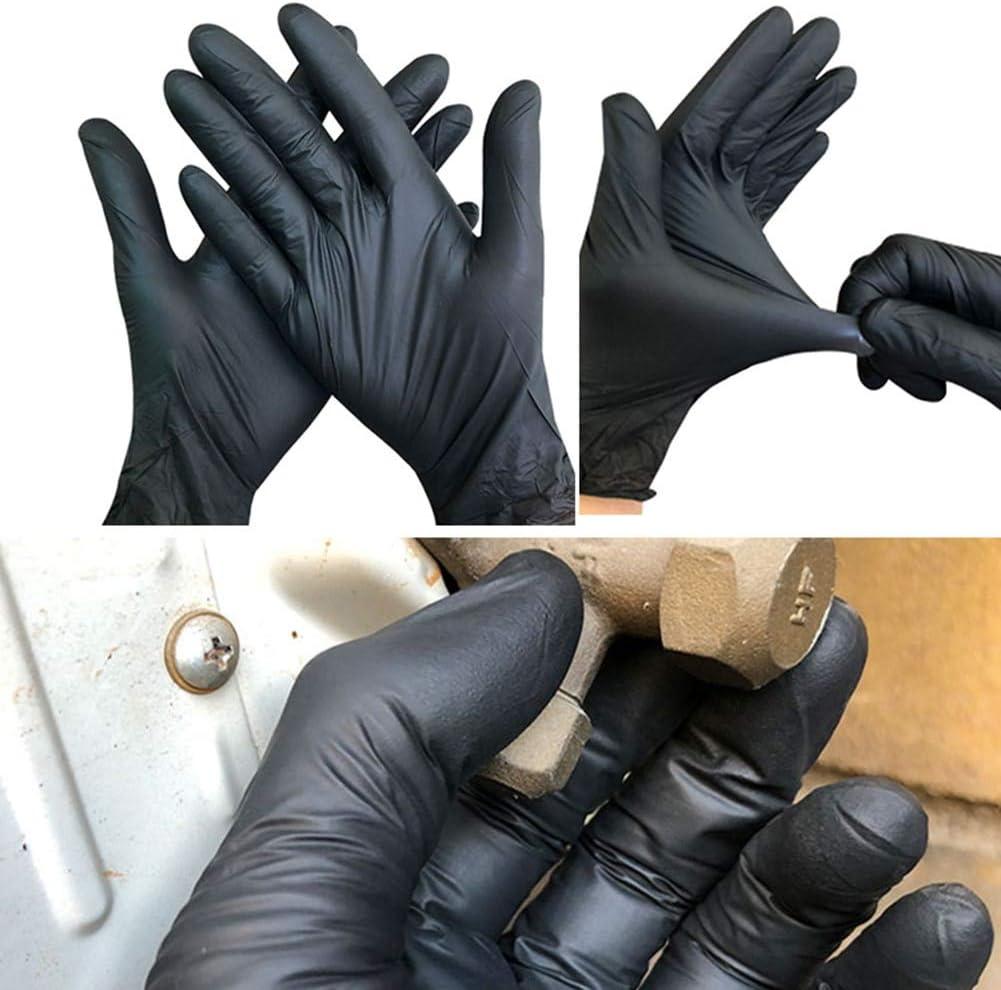 100pcs// Black USA Et Jette des Gants dans Le Lave-Vaisselle en Latex//Cuisine//Work//Gum//Universal Garden Gloves for Left and Right Hand L 100PCS