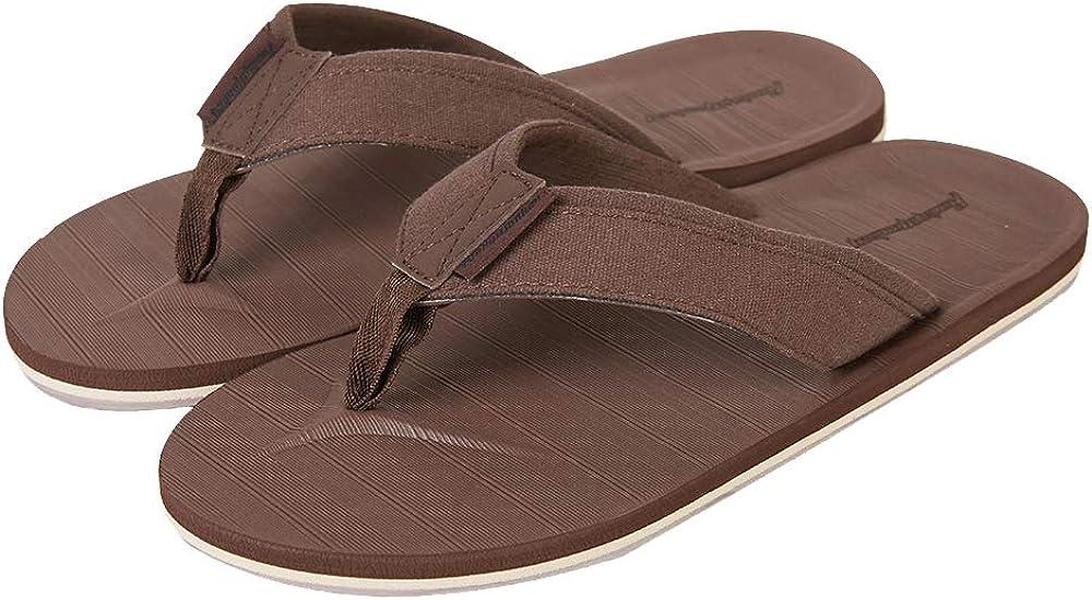 HEVA Mens Flip Flops Classical Comfortable Sandals Lightweight Summer Thongs