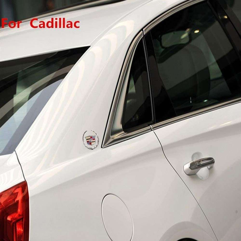 Car Tailgate Hood Emblem Metal Labeling for Escalade ATS SRX XTS CTS XT5 XLR,etc 2pcs 3D for Cadillac Emblem