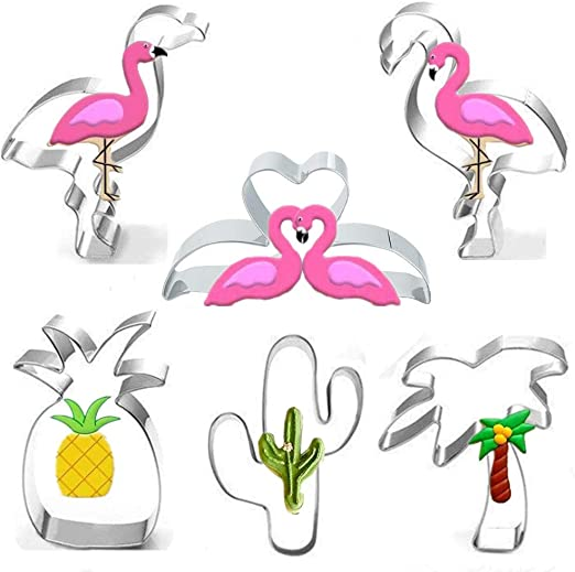 5 Luau Cookie Cutters Flamingo Pineapple Palm Tree Margarita Birthday Parties